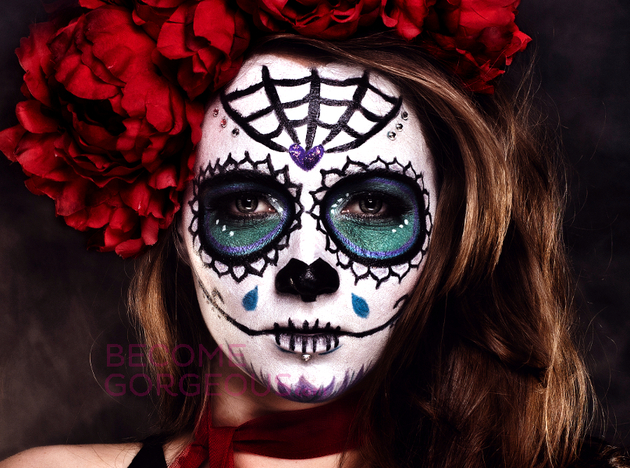 Halloween Sugar Skull Makeup Design