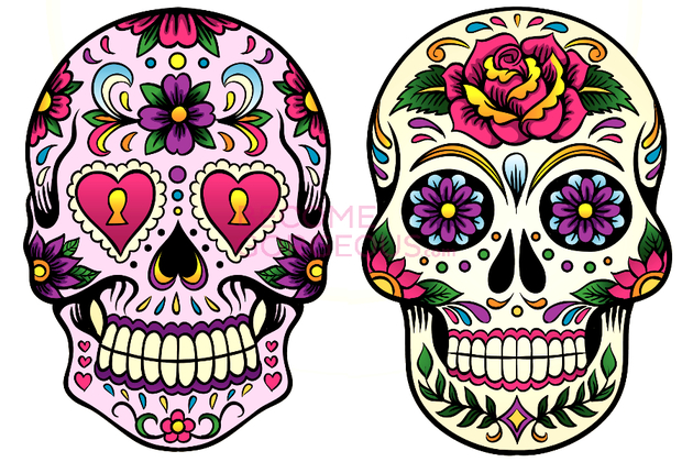 Sugar Skull Makeup Designs For Halloween