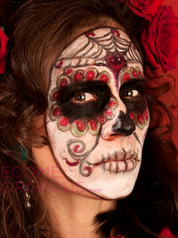 Halloween Sugar Skull Makeup
