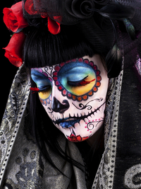 Rainbow Sugar Skull Makeup