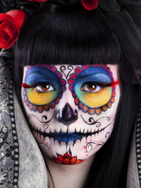 Rainbow Sugar Skull Makeup For Halloween