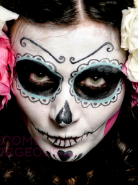 Simple Sugar Skull Face Design