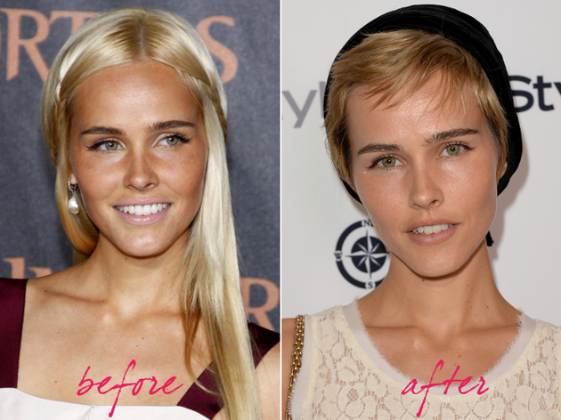 Isabel Lucas Hair Makeover 2013