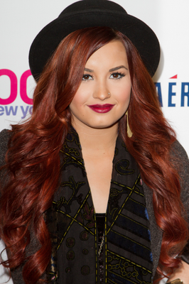 Demi Lovato Burgundy Hair Color