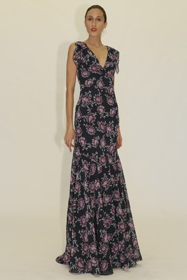 Floral Print Maxi Dress From Zac Zac Posen's Spring 2014 Collection