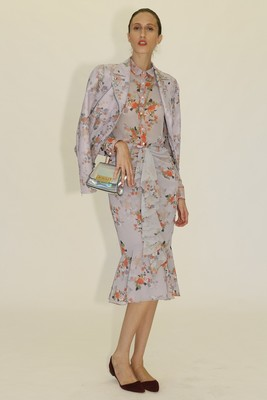 Floral Print Skirt Outfit From Zac Zac Posen's Spring 2014 Collection