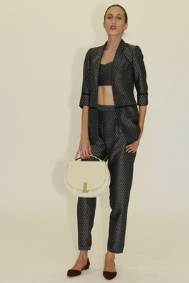 Printed Suit And Bralette From Zac Zac Posen's Spring 2014 Collection
