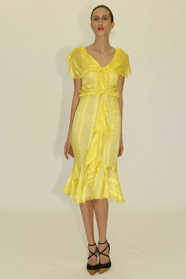 Yellow Midi Dress From Zac Zac Posen's Spring 2014 Collection