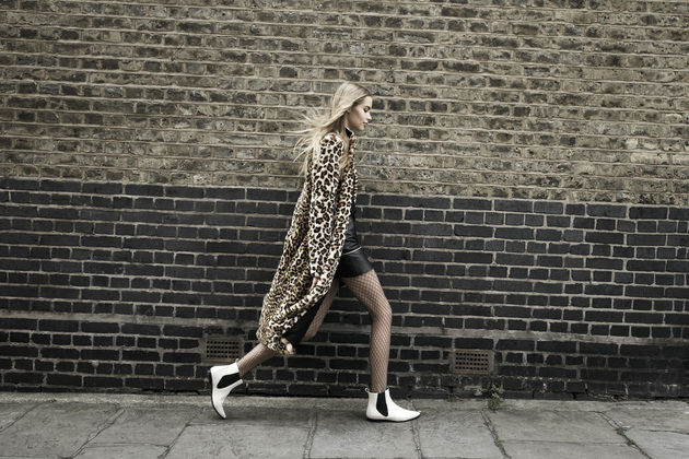 Zara Trf Animal Print Coat From The Fall 2013 Campaign