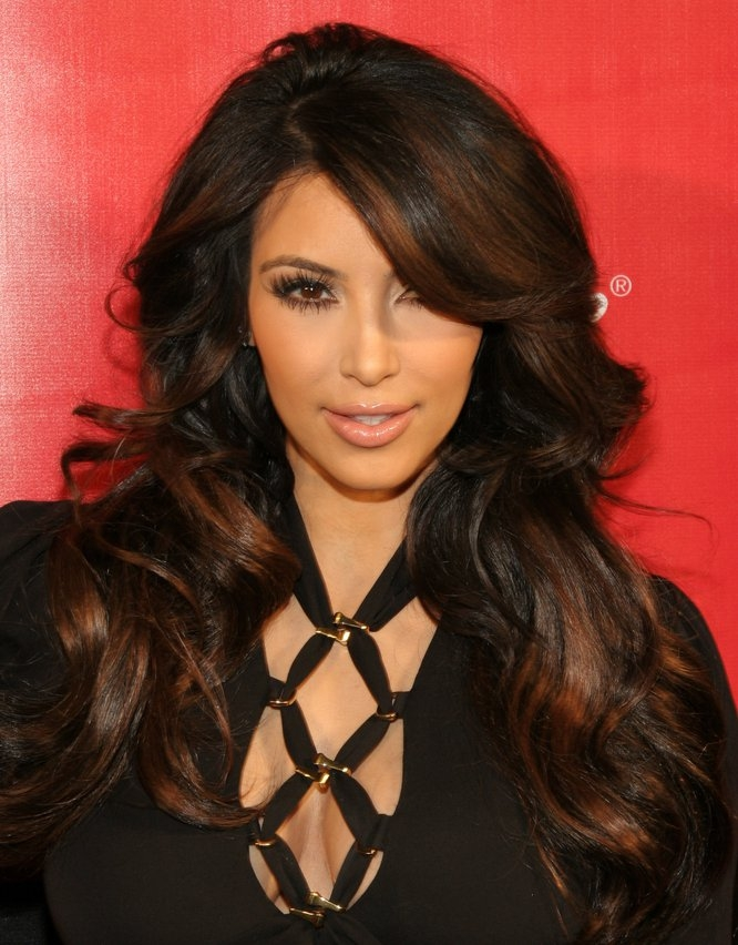 how to cut kim kardashian layers