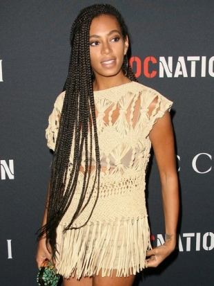 Solange Box Braid Hairstyles