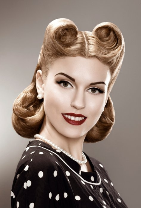 50s updo hairstyles : 50s Pin Up Hairstyles