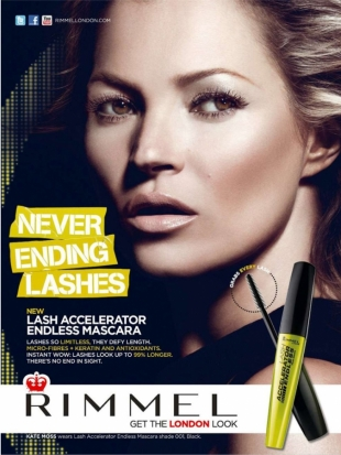 Kate Moss for Rimmel London Campaign 2013