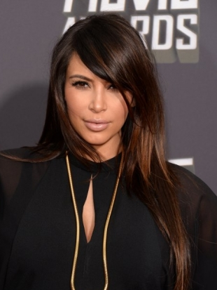 Kim Kardashian MTV Movie Awards 2013 Hairstyle