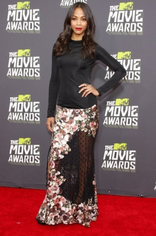 Zoe Saldana MTV Movie Awards 2013 Best Dressed