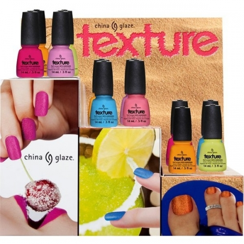 China Glaze Texture Summer 2013 Nail Polish Collection