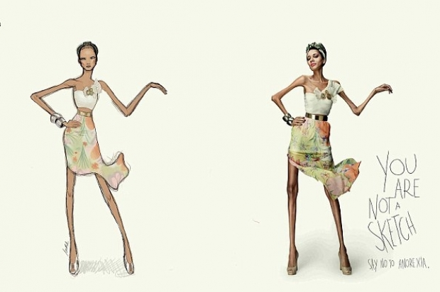 New Anti-Anorexia Campaign: You Are Not a Sketch