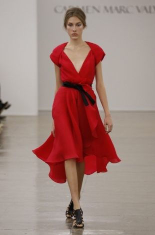 Carmen Marc Valvo at New York Fashion Week Fall 2013