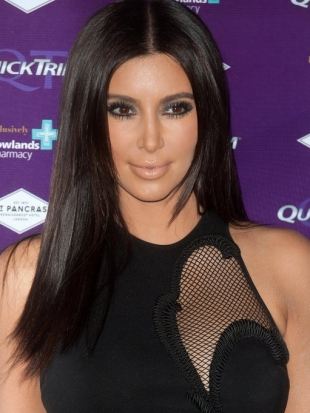 Kim Kardashian Thick Layered Haircut