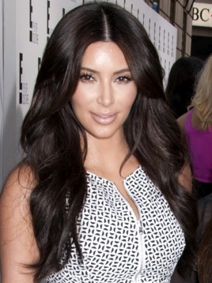 Kim Kardashian Thick Layered Hairstyle