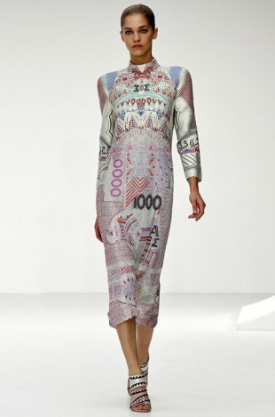 Mary Katrantzou at London Fashion Week Fall 2013