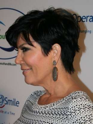 Kris Jenner Haircuts Side View