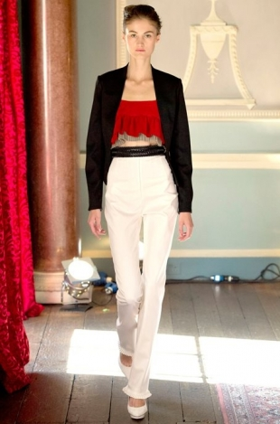 Emilio de la Morena at London Fashion Week Fall 2013
