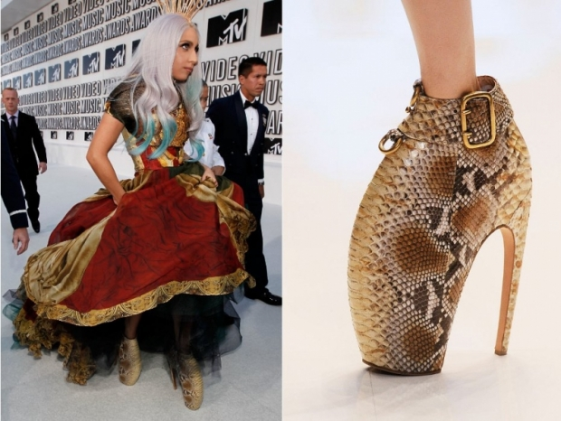 Lady Gaga Alexander McQueen Armadillo Shoes
