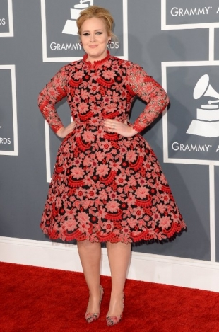 Adele Grammy Awards 2013 Best Dressed Celebrities