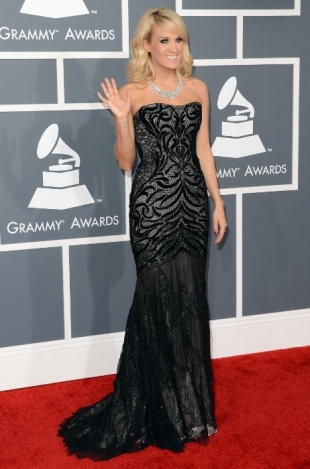 Carrie Underwood Grammy Awards 2013 Best Dressed Celebrities