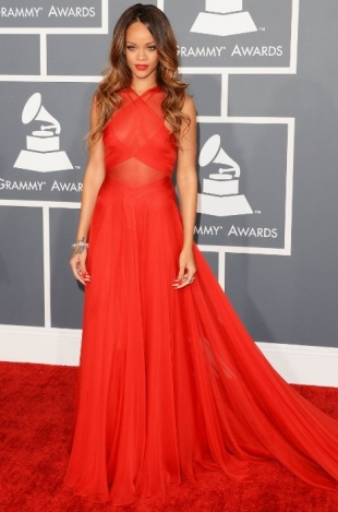 Rihanna Grammy Awards 2013 Best Dressed Celebrities
