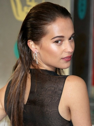 Alicia Vikander 2013 BAFTA Awards Hairstyles