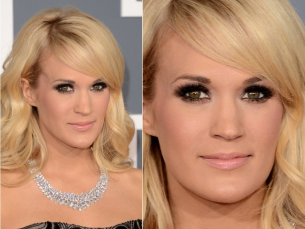Grammys 2013 Makeup: Carrie Underwoods Smokey Eyes