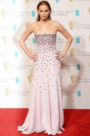 2013 BAFTA Awards Dresses: Jennifer Lawrence