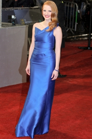 2013 BAFTA Awards Dresses: Jessica Chastain