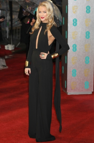2013 BAFTA Awards Dresses: Laura Whitmore