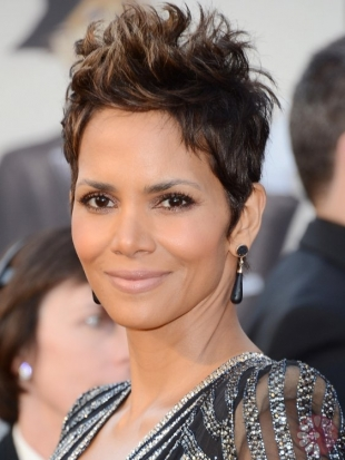 Halle Berry Oscars Hairstyles 2013: Short Crops