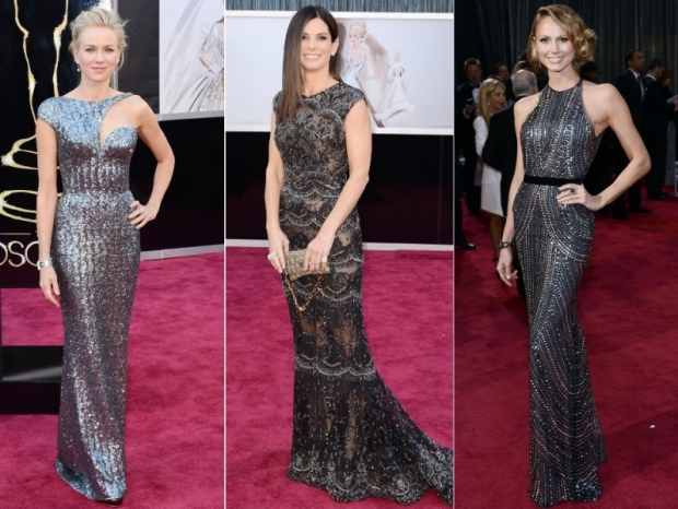 Oscars Dresses 2013: Shimmery Silver