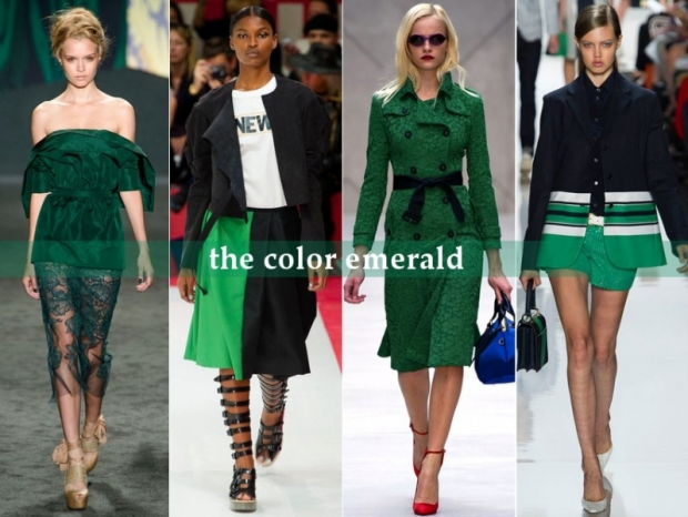 Emerald - Top Runway Trends for Spring 2013