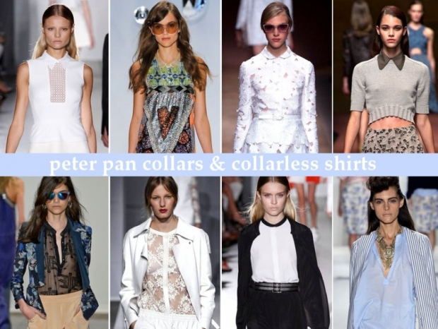 Collarless Shirts and Peter Pan Collars Spring 2013 Trends