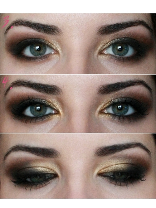 Mila Kunis Smoky Eye Makeup Tutorial Step 3 and 4