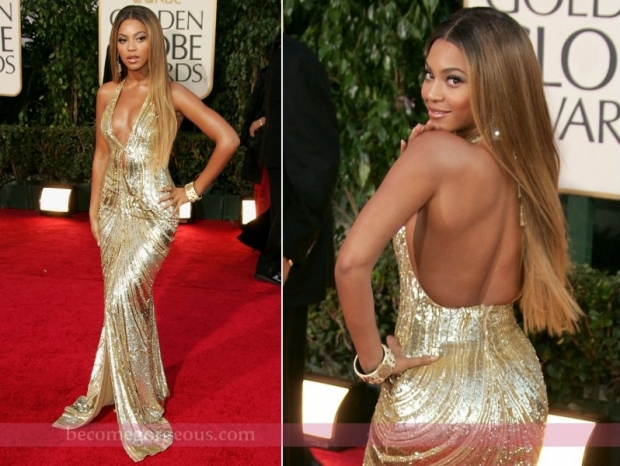 Beyonce Golden Gown Golden Globe Awards 2007