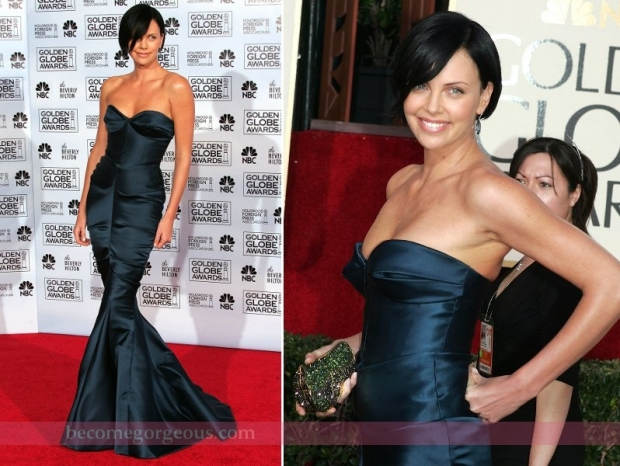 Charlize Theron Gown Golden Globes 2005
