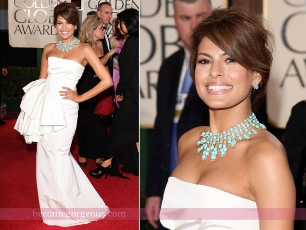 Eva Mendes Gown Golden Globe Awards 2009