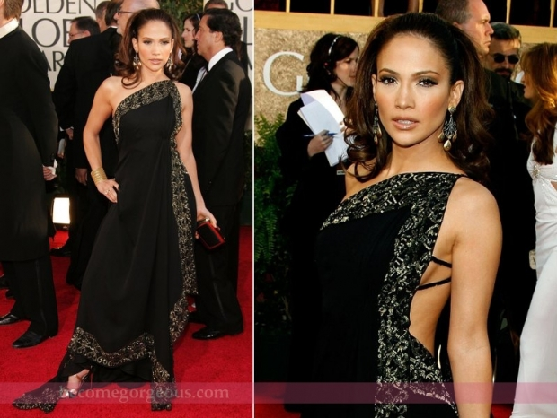 Jennifer Lopez Gown Golden Globes 2007