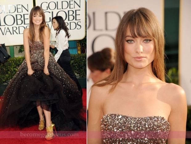 Olivia Wilde Gown Golden Globe Awards 2011