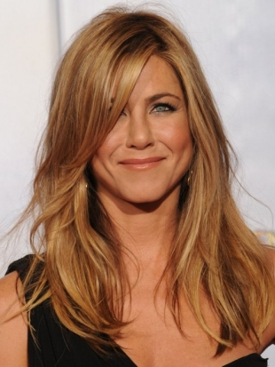 Jennifer Aniston Hairstyle Golden Globes 2010