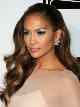 Jennifer Lopez Hairstyle Golden Globes 2011