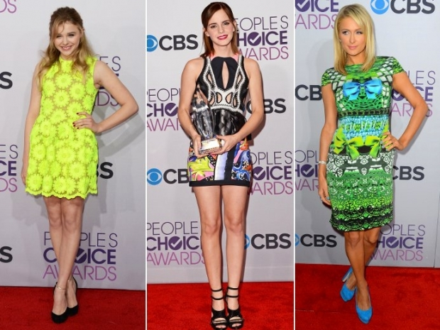 2013 Peoples Choice Awards Celebrity Fashion