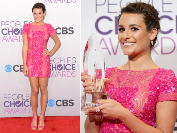 Lea Michele Dress 2013 Peoples Choice Awards